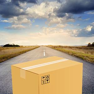 Carton de démenagement sur la route